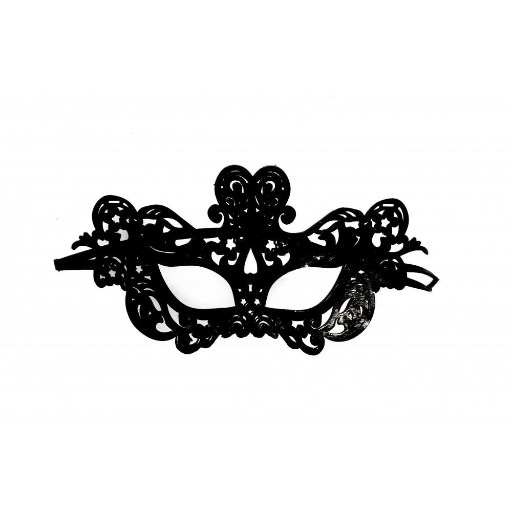 Черная ажурная гелевая маска NO TABOO (31904)