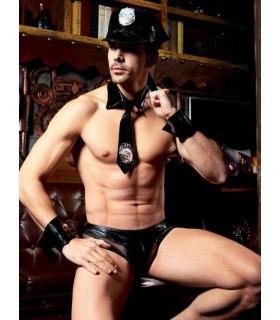 Эротический мужской костюм полицейского, 4 предмета, L/XL - No Taboo