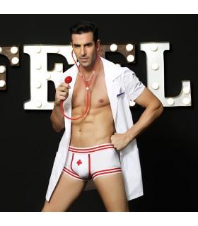 Эротический мужской костюм секси доктора, 4 предмета, размер L/XL - No Taboo