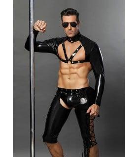 Эротический мужской пикантный костюм полицейского, 4 предмета S/M - No Taboo