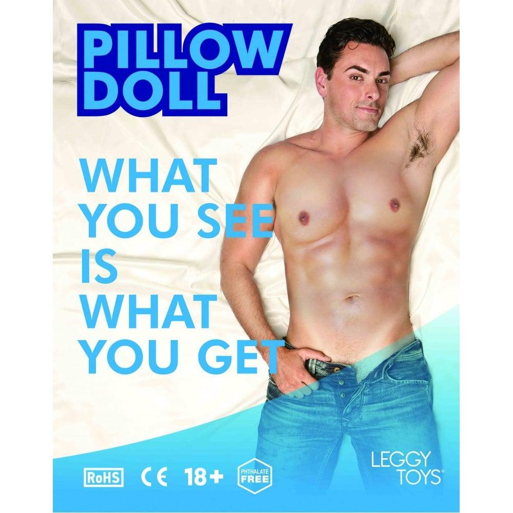 Надувная подушка в виде мужчины Leggy Toys (21168), фото 3 — секс шоп Украина, NO TABOO