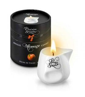 Массажная свеча Plaisirs Secrets Peach 80 мл - No Taboo