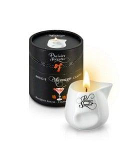 Массажная свеча Plaisirs Secrets Strawberry Daiquiri 80 мл - No Taboo