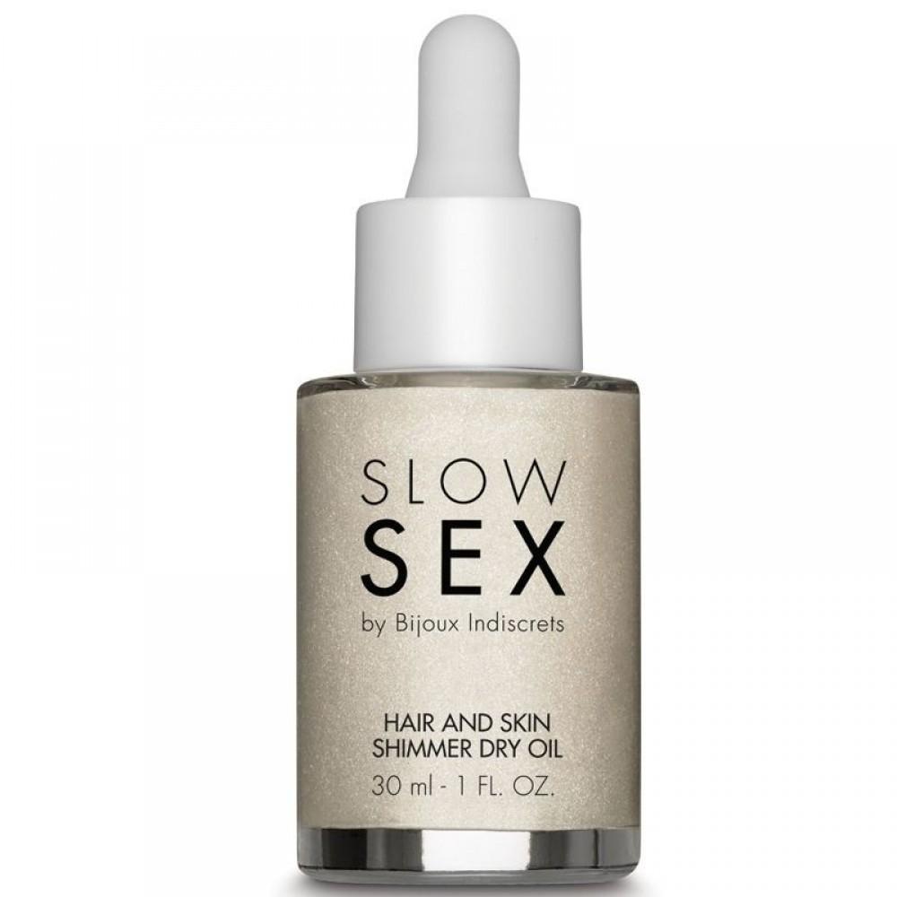 Мерцающее сухое масло для тела и волос Slow Sex by Bijoux (34693), фото 2