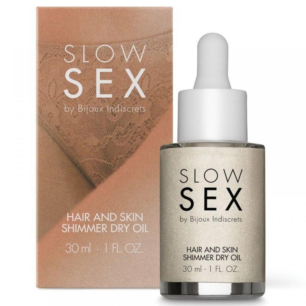 Мерцающее сухое масло для тела и волос Slow Sex by Bijoux (34693), фото 1