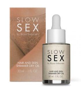 Мерцающее сухое масло для тела и волос Slow Sex by Bijoux - No Taboo