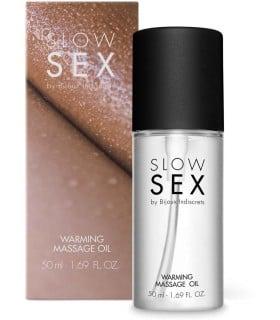 Разогревающее съедобное массажное масло WARMING MASSAGE OIL Slow Sex Bijoux Indiscrets - No Taboo