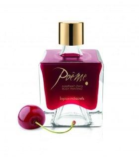 Съедобная краска для тела Poême (с пером) со вкусом вишни
