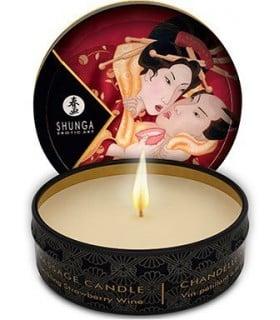Свеча для массажа SHUNGA Massage Sparkling Strawberry Wine - No Taboo