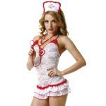 Костюм медсестри білий мереживний M/L