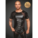 Эротическая футболка из винила, мужская H056 от Noir Handmade L