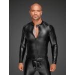 Куртка виниловая облегающая, на молнии Noir Handmade L