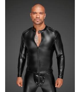 Куртка виниловая облегающая, на молнии Noir Handmade, размер L - No Taboo