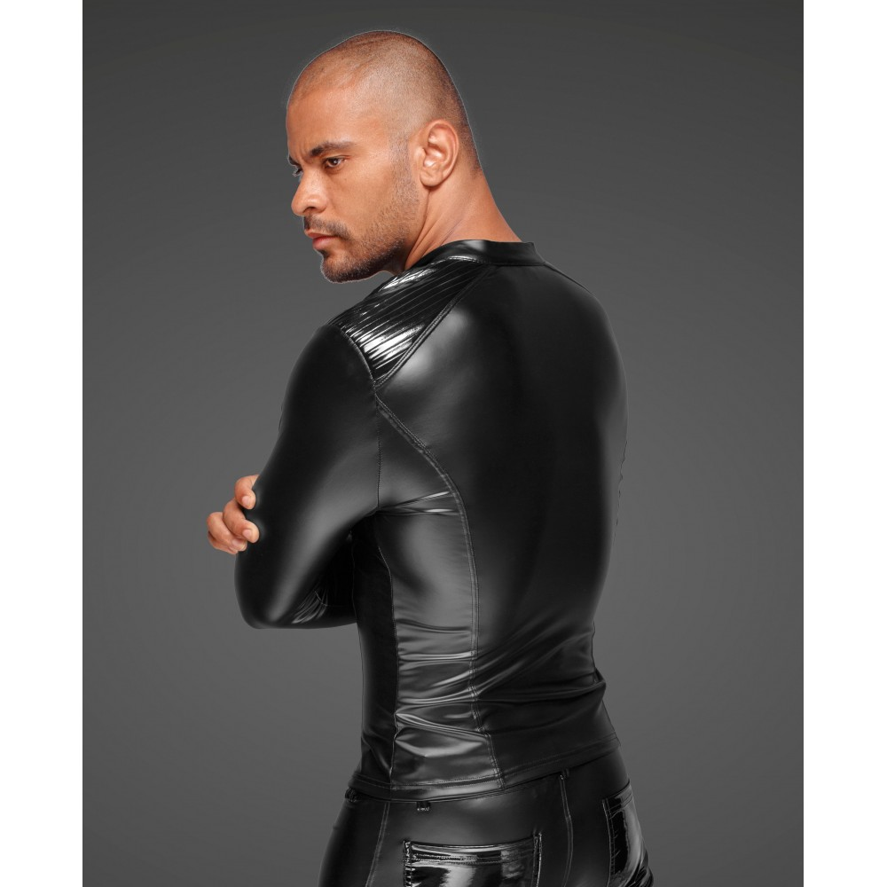 Куртка виниловая облегающая, на молнии Noir Handmade S - No Taboo