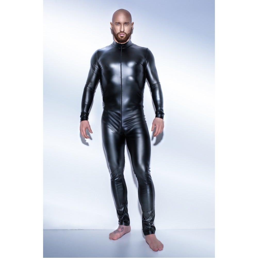 Сексуальний обтягуючий чоловічий комбінезон H043 Noir Handmade L (32646)
