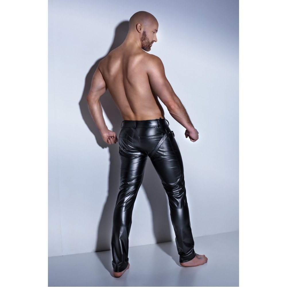 Штаны с ремнями H042 Noir Handmade XL (32650), фото 3 — секс шоп Украина, NO TABOO