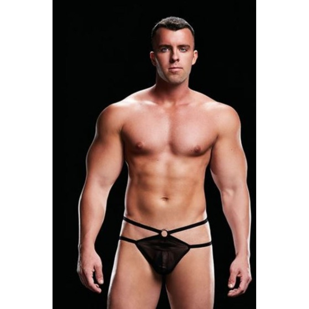 Трусы мужские LOW-RISE G-STRING BLACK, M/L (34675), фото 1 — секс шоп Украина, NO TABOO