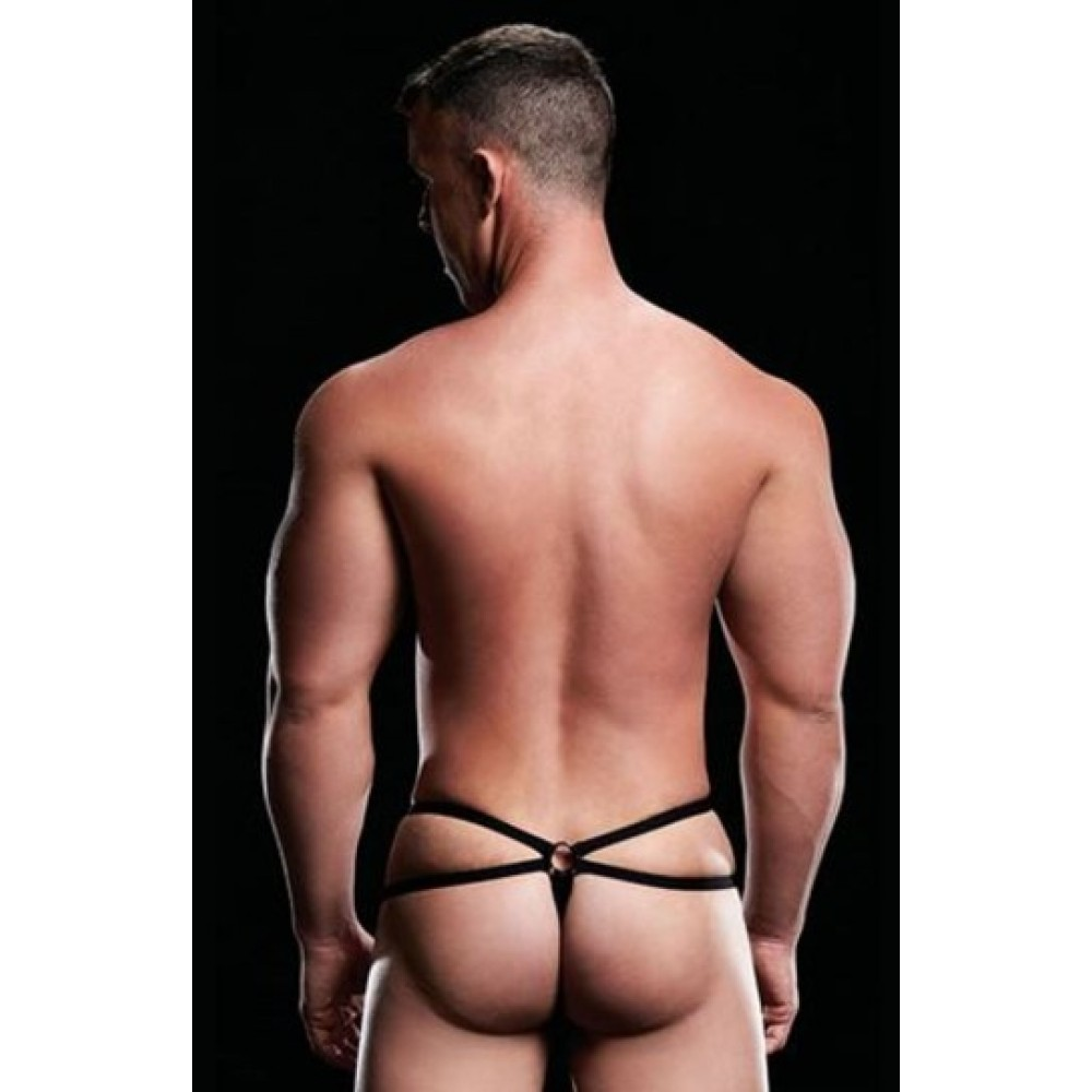 Трусы мужские LOW-RISE G-STRING BLACK, M/L (34675), фото 2 — секс шоп Украина, NO TABOO
