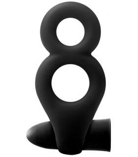 Двойное эрекционное кольцо с вибрацией RENEGADE - No Taboo