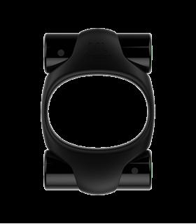 Эрекционное кольцо черного цвета с двумя вибропулями ML Creation (My Love), черный - No Taboo