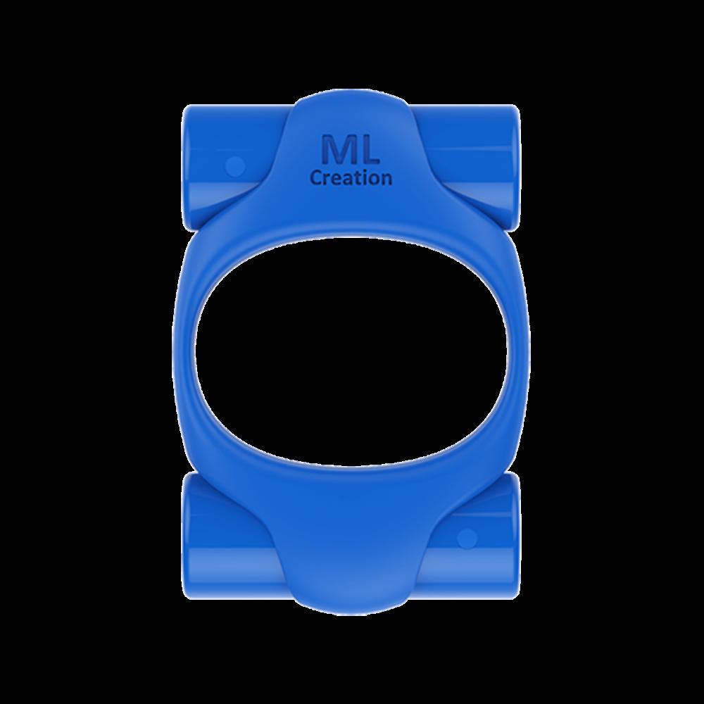 Эрекционное кольцо синего цвета 2 вибропули Power Ring ML Creation (My Love) (35100), фото 1 — секс шоп Украина, NO TABOO