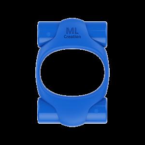 Эрекционное кольцо синего цвета 2 вибропули Power Ring ML Creation (My Love) (35100), zoom