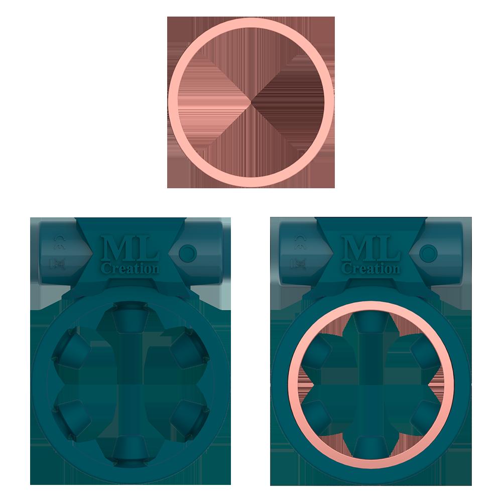 Эрекционное кольцо c вибропулей Magic Ring Green ML Creation (My Love) - No Taboo