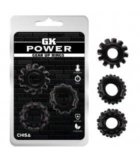 Рельефное эрекционное кольцо черное GK Power,1 шт - No Taboo