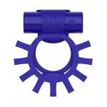 Эрекционное кольцо двойное c вибропулей Super Ring ML Creation (My Love), синее