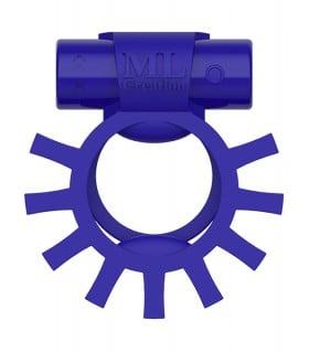 Эрекционное кольцо двойное c вибропулей Super Ring ML Creation (My Love), синее - No Taboo