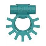 Эрекционное кольцо двойное c вибропулей Super Ring ML Creation (My Love), бирюзовое