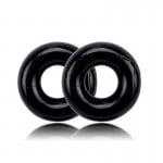 Черное гладкое эрекционное кольцо Get Lock, 1 шт