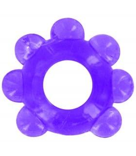 Фиолетовое эрекционное кольцо с рельефом - No Taboo