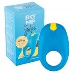 Синее эрекционное кольцо с вибрацией Romp Juke