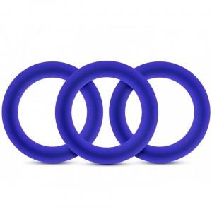 Набор эрекционных колец синего цвета , zoom