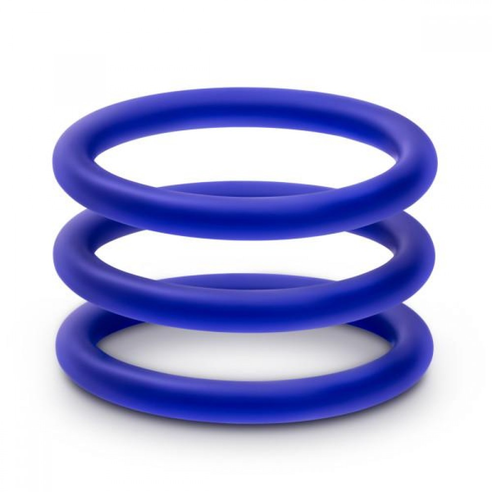 Набор синих эрекционных колец , 3 шт (34622), фото 1