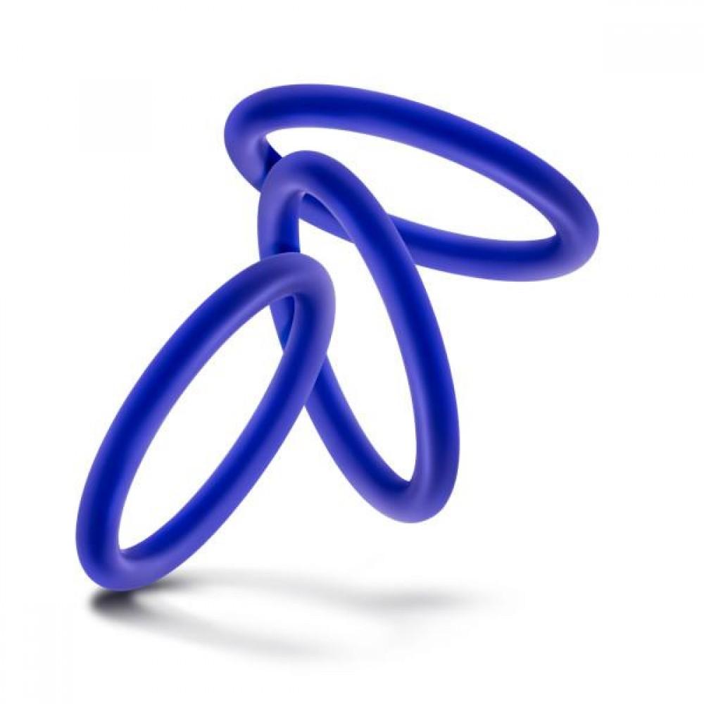 Набор синих эрекционных колец , 3 шт (34622), фото 3