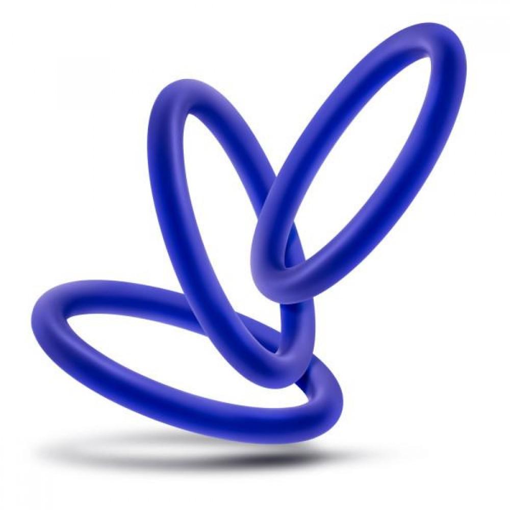 Набор синих эрекционных колец , 3 шт (34622), фото 4