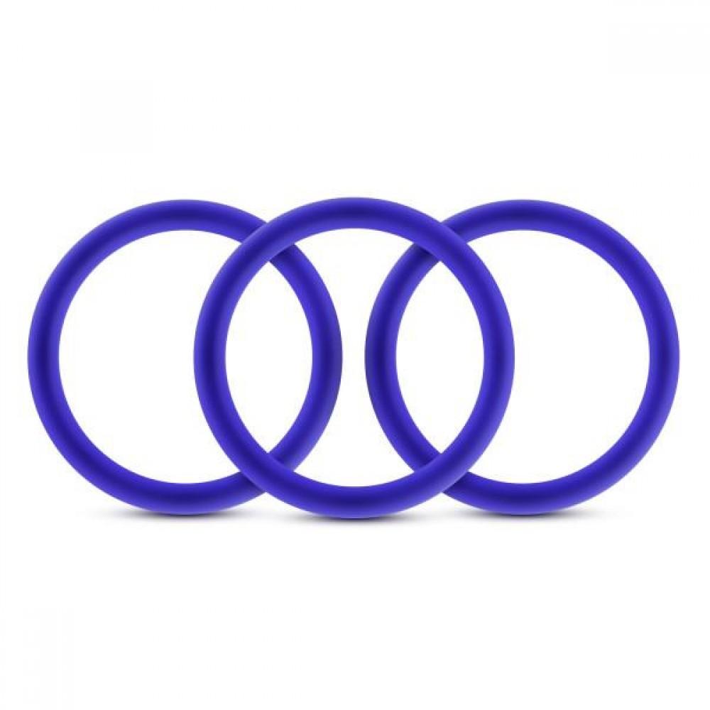 Набор синих эрекционных колец , 3 шт (34622), фото 2