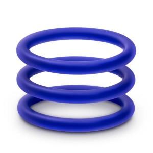 Набор синих эрекционных колец , 3 шт (34622), zoom