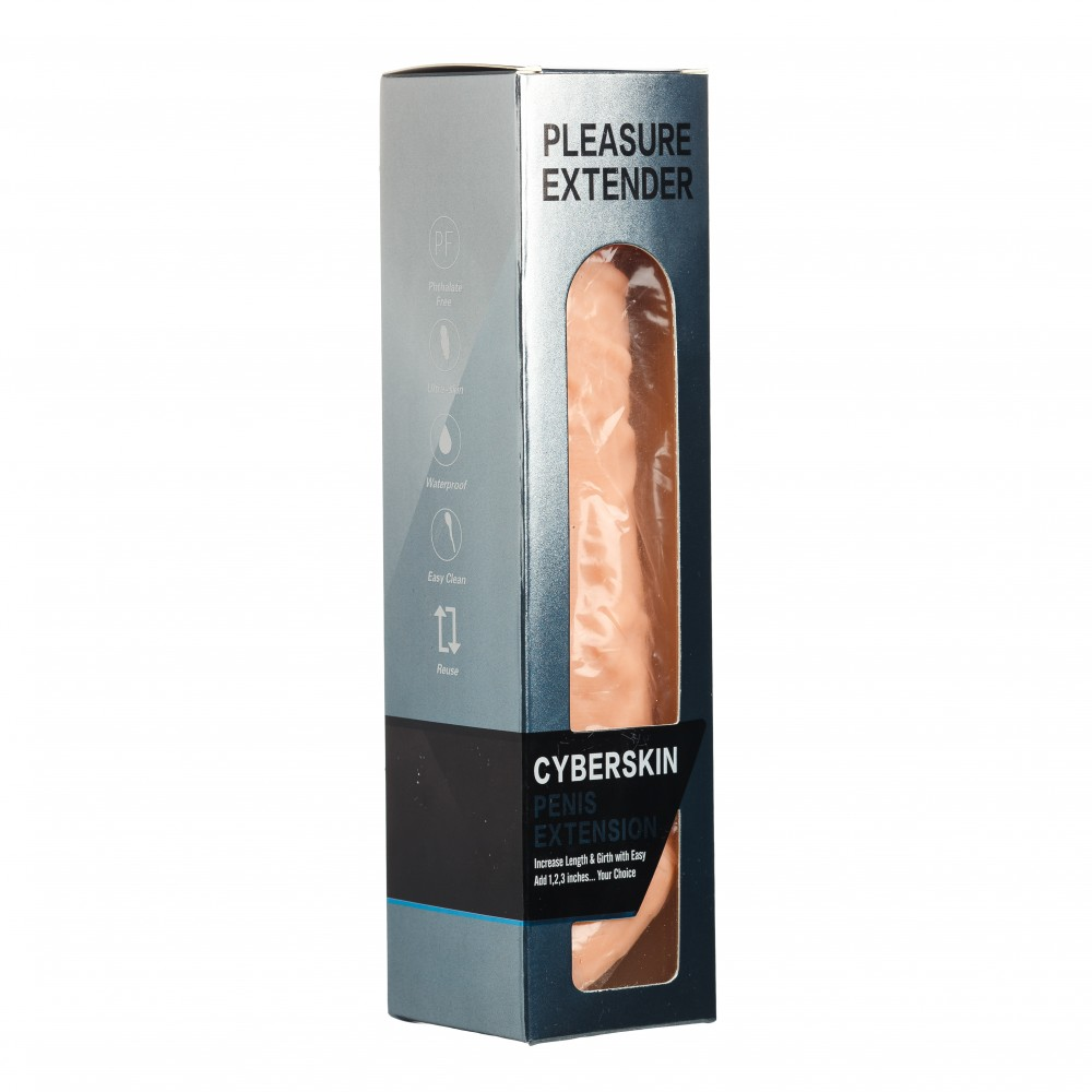 Реалистичная удлиняющая насадка на пенис с утяжкой на мошонку , фото 5