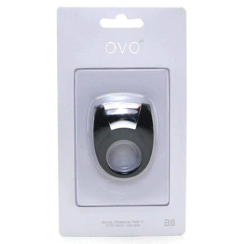 Стильне віброкільце OVO (чорне) (9833)