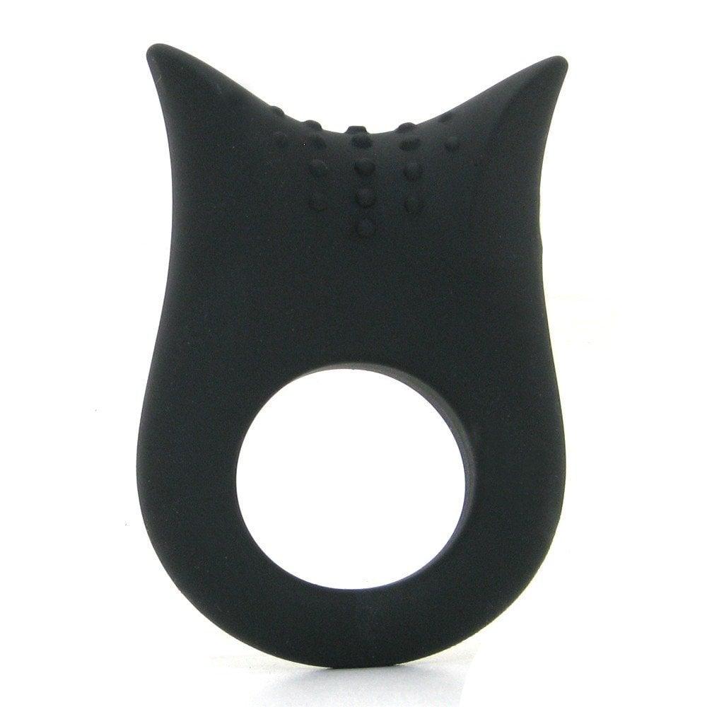 Черное эрекционное кольцо с вибрацией (9815)