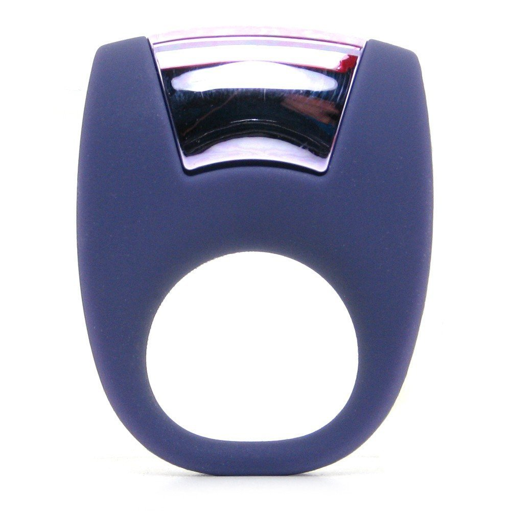 Фиолетовое эрекционное кольцо с вибрацией , фото 3