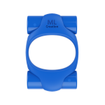 Эрекционное кольцо синего цвета 2 вибропули Power Ring ML Creation (My Love)