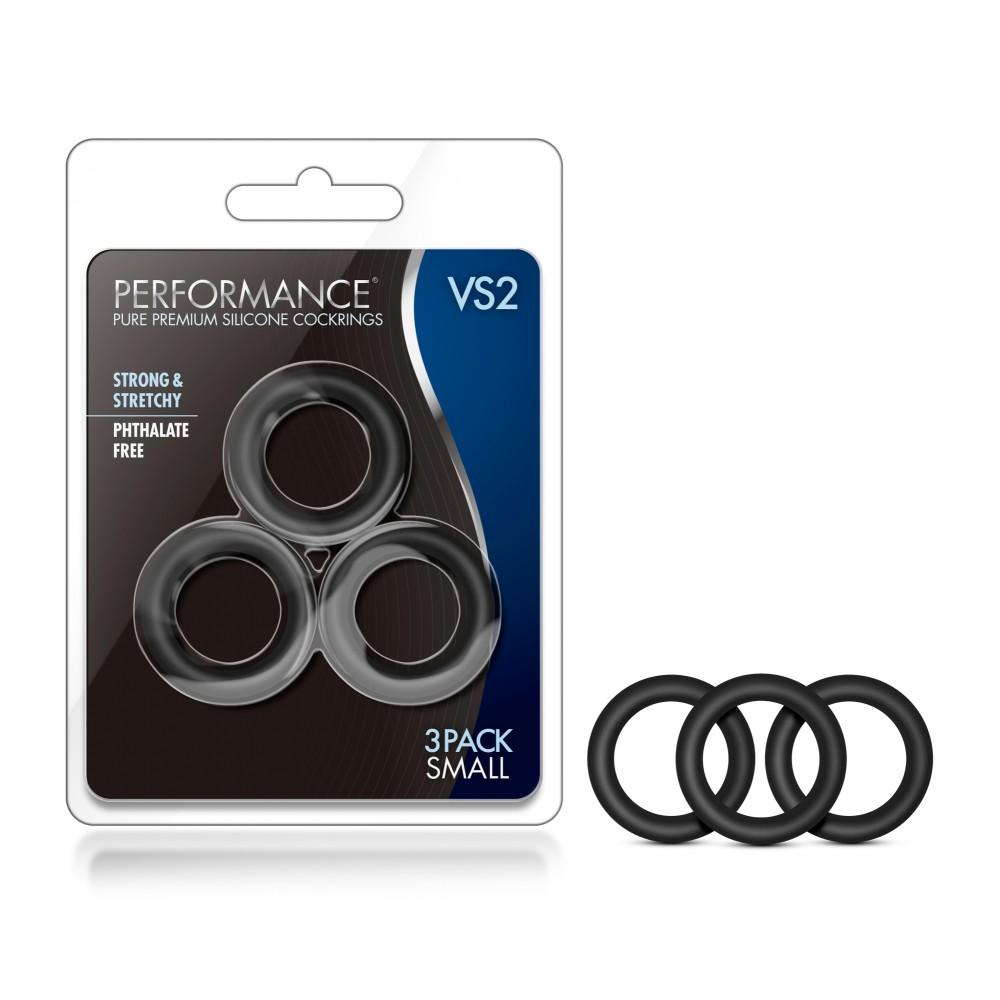Набор эрекционных колец черного цвета, 3 шт (34623)