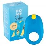 Синє ерекційне кільце з вібрацією Romp Juke