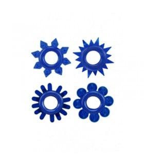 Рельєфне ерекційне кільце синього кольору, 1шт - No Taboo