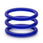 Набор синих эрекционных колец , 3 шт