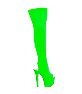 Ботфорты зеленые с открытым носком и пяткой 38р - No Taboo